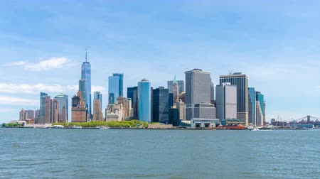 4k timelapse video of Lower Manhattan skyline in daytime