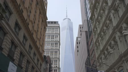 New York, USA - 14 maggio 2018: Colpo commovente del One World Trade Center