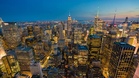 Timelapse video of New York City at night Wideo