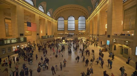 concourse : New York, USA - May 19, 2018: Commuters at Grand Central Station in New York