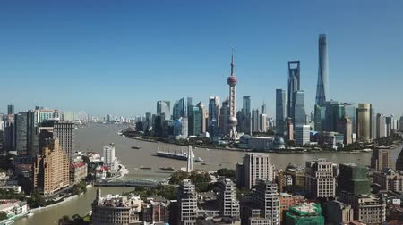 Aerial video of Shanghai in daytime Wideo