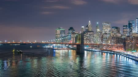 Hyperlapse video of Manhattan skyline and Brooklyn Bridge