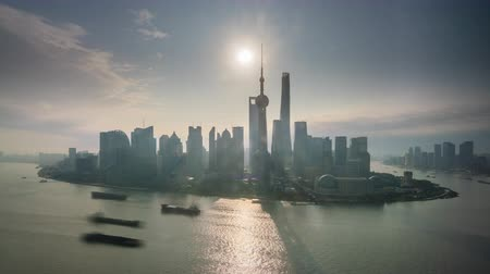 4k timelapse video of Shanghai at sunrise