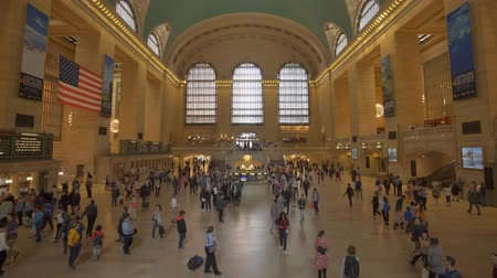 concourse : New York, USA - May 10, 2018: Commuters at Grand Central Station in New York