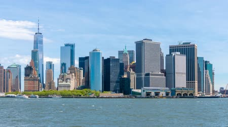 Timelapse video of Lower Manhattan skyline in daytime