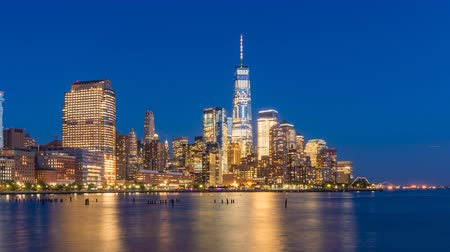 4k timelapse video of Manhattan skyline Wideo