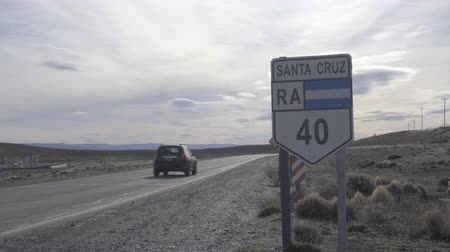 4k video of car travelling on Route 40 in Argentina