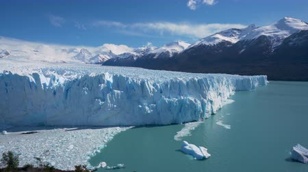 4k timelapse video of the Perito Moreno Glacier in the Los Glaciares National Park in Argentina