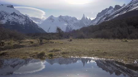 4k timelapse video of Cerro Torre mountain at Los Glaciares National Park in Argentina