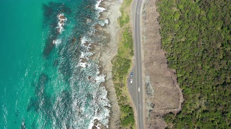 Video aereo 4k di Great Ocean Road in Australia Filmati Stock