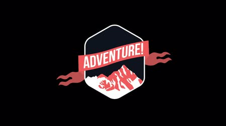 odznaka : beautiful badge , web element  , adventure Wideo