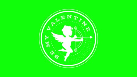 damga : green screen , badge , web element  , be my valentine Stok Video