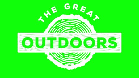 damga : green screen , badge , web element  , the great outdoors Stok Video