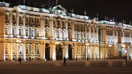 alexander column : St. Petersburg, The Hermitage Museum at night