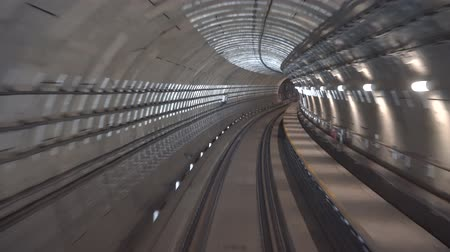 trilho : Concept of modern metro underground transport and connection speed footage