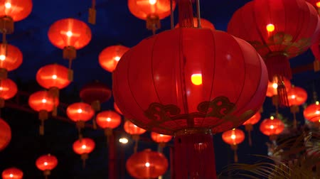 servet : Chinese lanterns during new year festival footage Stok Video