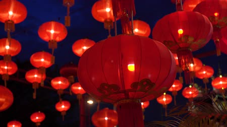 Chinese lanterns during new year festival footage Vídeos