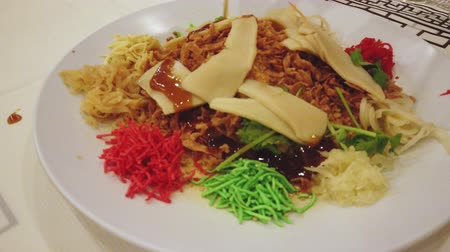 fıstık : Yee Sang, a Chinese new year celebration dish