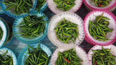 Chillies for sale in asia
