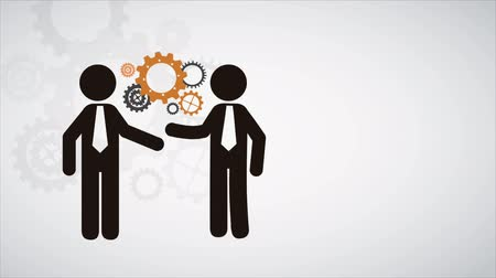 mühendislik : Business handshake Animation Design, HD 1080