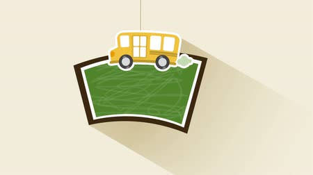 autobus : schoolbord en bus Animation Design, HD 1080