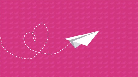 скрепки : Paper airplane Video Animation, HD 1080
