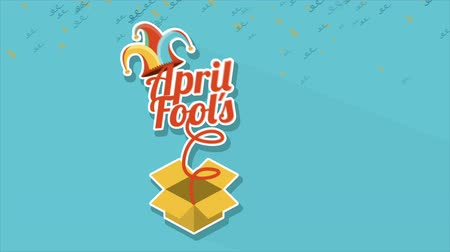 hamis : April Fools Day, Video animation, HD 1080 Stock mozgókép