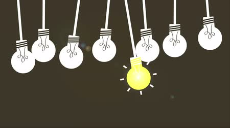 иллюстрация : Light bulb set, Video Animation. HD 1080