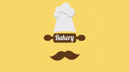 chef cooking : Bakery cook, Video animation, HD 1080 Stock Footage