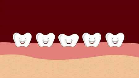 caráter : Design of happy teeth, Video animation, HD 1080