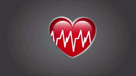 hart : Heartbeat Design, video animatie, HD 1080 Stockvideo