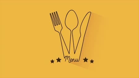 spoons : Knife spoon and fork menu, Video animation, HD 1080