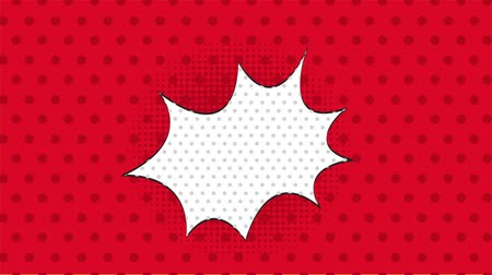 estalo : Red dotted background, pop art style,  Video animation, HD 1080