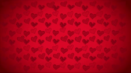 palpitação : Red heart background, Video animation, HD 1080 Stock Footage