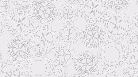 fogaskerék : Industry wheel background Video animation HD 1080 Stock mozgókép