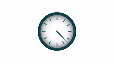 zegar : Clock isolated on white Video animation HD 1080