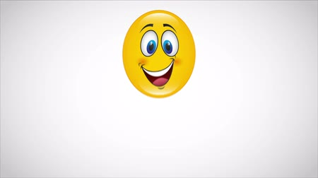 smilies : Yellow happy face Video animation HD 1080 Stock Footage