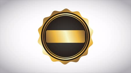 certidão : black and gold label, Video animation, HD 1080