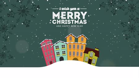 image house : Merry Christmas card, Video Animation HD 1080 Stock Footage