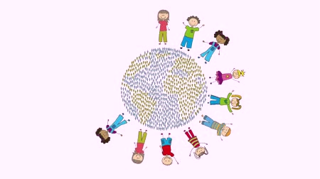 культурный : Children around the world, Video Animation HD1080