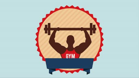 musculação : Gym Icon design, Video Animation HD1080