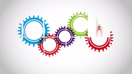 mecânica : Gear icon design, Video Animation HD1080 Stock Footage