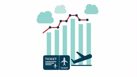 grafika : travel Statistics graphic design, Video animation HD1080