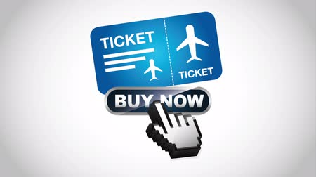 bilet : Ticket concept design, Video Animation HD1080 Stok Video