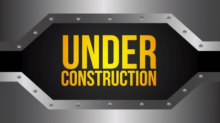 website : under construction design, Video Animation Stock Footage
