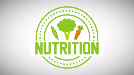 beslenme : nutrition seal design, Video Animation Stok Video