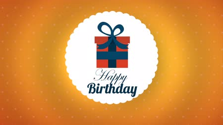 kart : happy birthday design, Video Animation
