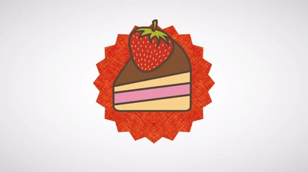 desszertek : Cake icon design, Video Animation