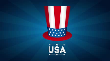 egyesült : usa emblem design, Video Animation Stock mozgókép