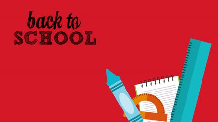 gidip : back to school design, Video Animation Stok Video